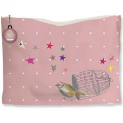 Kit trousse rose oiseau en cage
