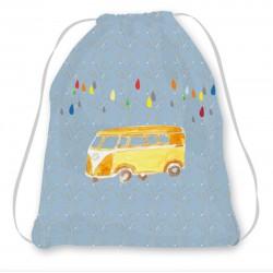Kit sac enfant bleu combi wollkswagen