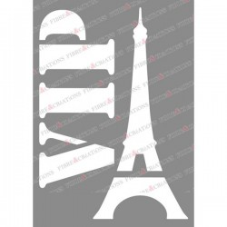 Pochoir pour tissu - Tour Eiffel -