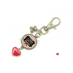 Porte clé  - Un bisou pour ma nounou -