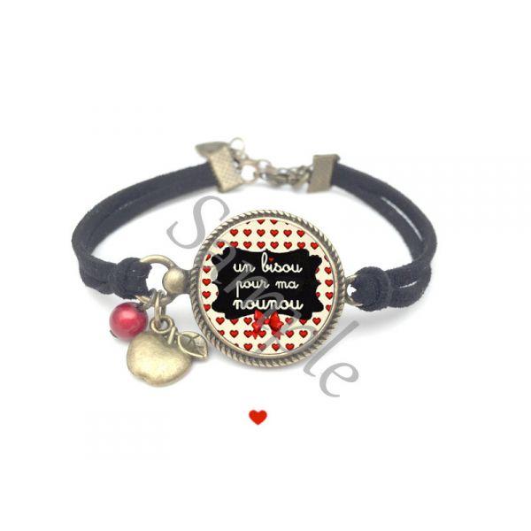 idee cadeau nounou bijoux personnalis s bracelet liberty un bisou pour ma nounou. Black Bedroom Furniture Sets. Home Design Ideas