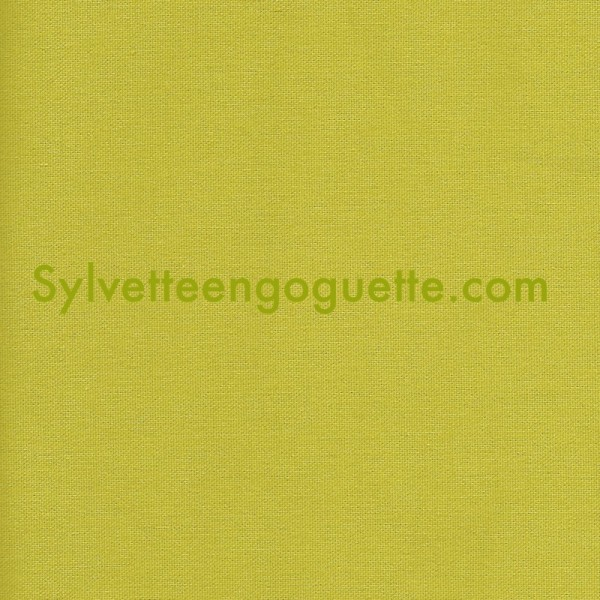 Toile coton pais vert fenouil vendu par 25 cm - Toile de coton synonyme ...