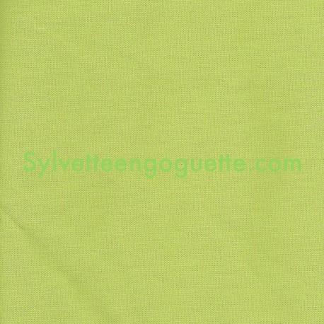 toile coton pais vert verveine vendu par 25cm. Black Bedroom Furniture Sets. Home Design Ideas
