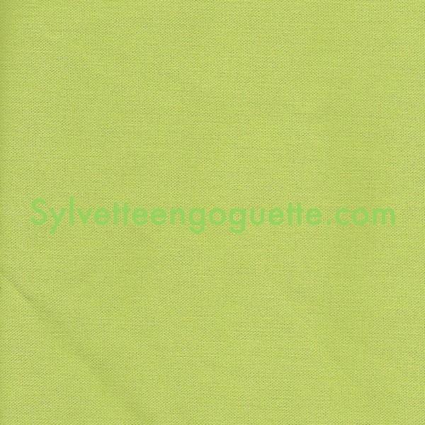 Toile coton pais vert verveine vendu par 25cm - Toile de coton synonyme ...
