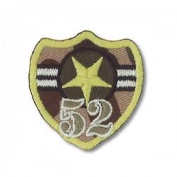 """Ecusson thermocollant militaire """"52ème"""""""