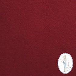 Coupon feutrine rouge bordeaux 20 X 30 cm