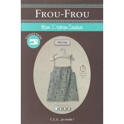 "Patron couture DIY Froufrou ""mon top"""