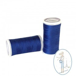 Fil à coudre polyester 200m bleu touareg - 027