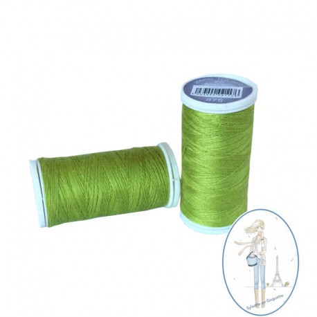 Fil à coudre polyester 200m vert anis - 875