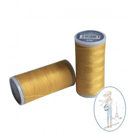 Fil à coudre polyester 200m jaune or - 506