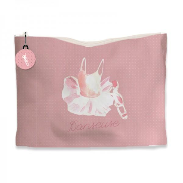 kit de couture petite fille une trousse rose danseuse