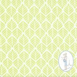 Toile cirée vert tendre TRIGO