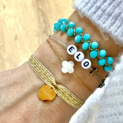 Bracelet prénom perles - étoile