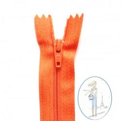 Fermeture éclair orange abricot 523