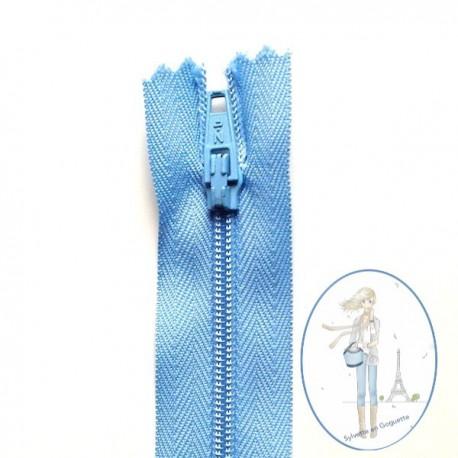 Fermeture éclair bleu cyclade