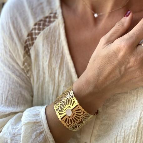 Bracelet manchette or Kitty