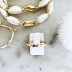 Bracelet coquillages or CAURI