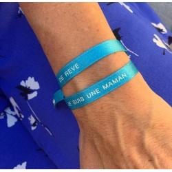 Bracelet satin - Maman