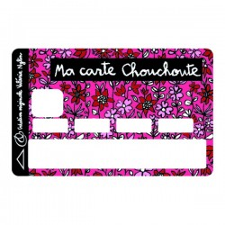 Sticker CB ma carte chouchoute rose