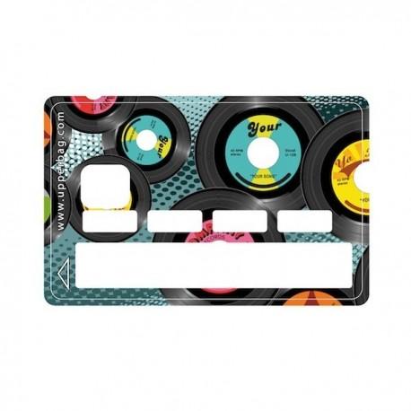 Sticker CB Vintage disques vinyl