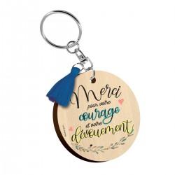 Porte-clés Merci pour votre courage