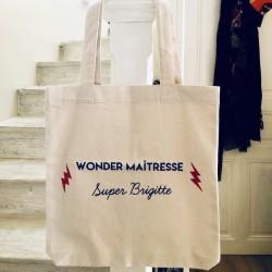 Tote bag à personnaliser - maitresse