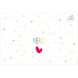Carte à message Merci