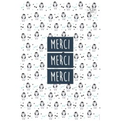 Carte à message Merci Merci Merci