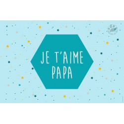 Carte à message je t'aime papa