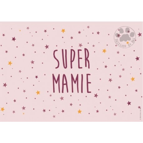 Carte à message super mamie