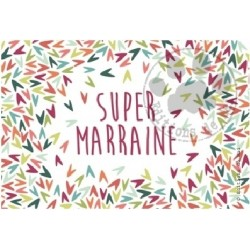 Carte à message super marraine