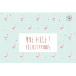 Carte à message Une fille félicitations