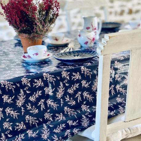 Toile cirée bleu nuit wisteria