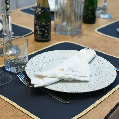 Serviette de table à personnaliser