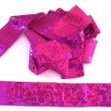Galon paillettes large 4cm fuchsia