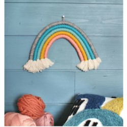 Kit créatif : Mon arc en ciel en macramé