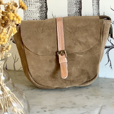 Sac besace taupe IPPITY