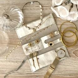 Pochette à bijoux de voyage en cuir Liva
