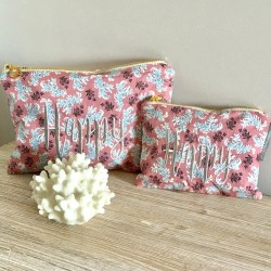 Pochette liberty rose Julia