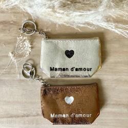Porte monnaie Porte-clés maman d'amour