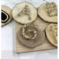 Broche OR alphabet