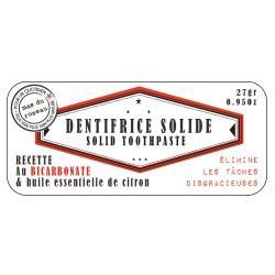 Dentifrice solide naturel et boite
