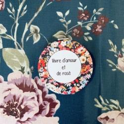 Miroir de Vivre d'amour et de rosé