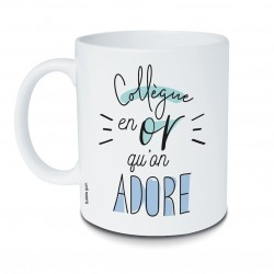 Mug Collègue en or