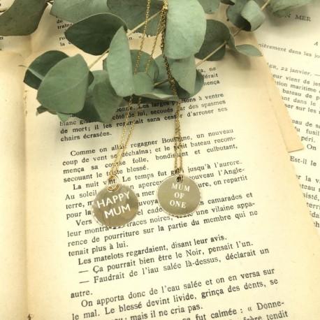 Collier médaille 2 cm gravée or