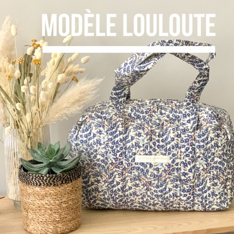Sac week end fleuri Louloute