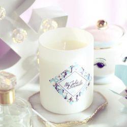 Bougie bijou avec collier Fleur de coton