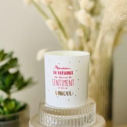 Bougie parfumée avec bracelet Maman