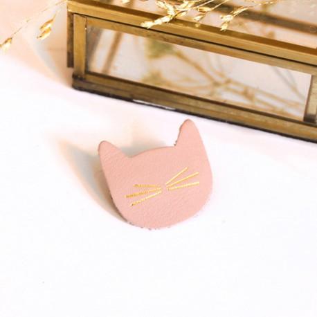 Broche petit chat en Cuir - MInou