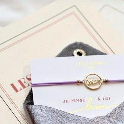 Bracelet élastique avec charm doré